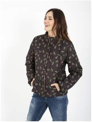 Smash Wear Puffy-Coat With Floral-Design