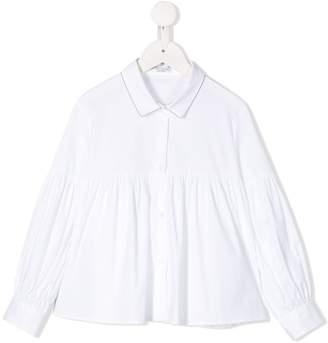 Brunello Cucinelli KIDS long-sleeve peplum shirt