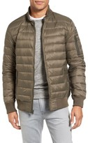 Schott NYC Men's Reversible Down Bomber Jacket