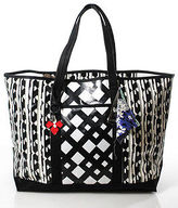 Peter Pilotto For Target Black White Coated Canvas Tote Handbag
