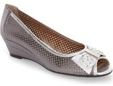 J. Renee Dovehouse' Perforated Peep Toe Wedge (Women)