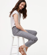 LOFT Petite Gingham Pencil Pants in Marisa Fit
