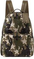 Valentino Camouflage Leather Star Backpack