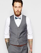Asos Wedding Waistcoat In Grey Tonic