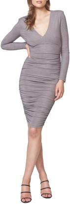 Bardot Lorena Metallic Long Sleeve Body-Con Dress