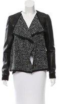 Thakoon Leather-Trimmed Tweed Jacket