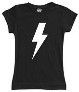 Urban Smalls Black Lightning Bolt Fitted Tee - Toddler & Girls
