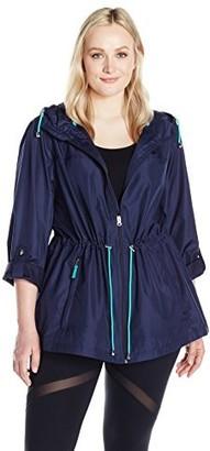 Details Women's Plus Size Lightweight Packable Anorak Parka in A Pocket