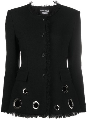 Boutique Moschino Punch-Hole Fitted Blazer
