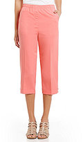 Allison Daley Petites Pull-On Grommet Tab Hem Capri