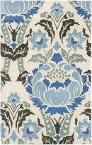 "Ecarpetgallery eCarpet Gallery 181253 Handmade Impressions 5'0"" x 8'0"" Wool Rug, Cream, Dark Faded"