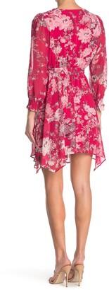 Taylor Floral Print Long Sleeve Belted Dress