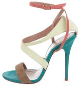 Jean Michel Cazabat for Sophie Theallet Suede Colorblock Sandals
