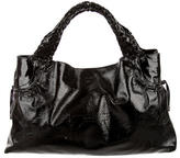 Salvatore Ferragamo Textured Patent Leather Tote