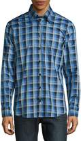 Robert Talbott Men's Casual Checked Cotton Sportshirt