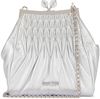 Miu Miu Pouch Shoulder Bag in Argento | FWRD