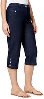 Karen Scott Petite Karen Scott Petite Cropped Button-Hem Pants Only at Macy's