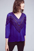 Plenty by Tracy Reese Stroke of Midnight Embroidered Blouse