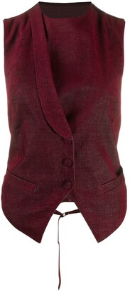Ann Demeulemeester Fitted Angular Waistcoat Jacket