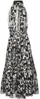 Saint Laurent Metallic silk-jacquard midi dress