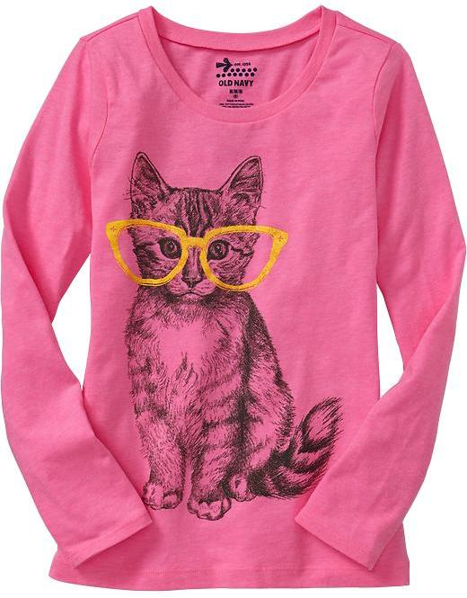 Old Navy Girls Graphic Long-Sleeve Tees