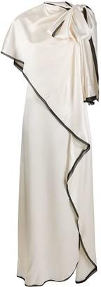 Ports 1961 Draped Sleeveless Silk-Blend Gown