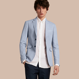 Burberry Slim Fit Cotton Linen Jacket