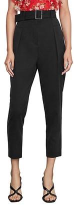 BCBGMAXAZRIA Single Pleated High-Waist Pants
