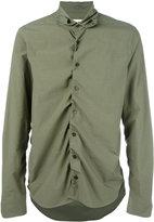 Marni ruched shirt - men - Cotton - 48