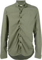 Marni ruched shirt - men - Cotton - 50