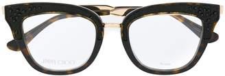 Jimmy Choo Eyewear rhinestone detail glasses