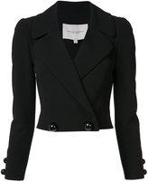 Carolina Herrera double-breasted cropped jacket - women - Silk/Cotton/Virgin Wool - 2