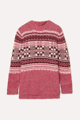 Beryll Holzweiler - + Skappel Fair Isle Knitted Sweater - Pink