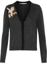 Diane von Furstenberg Temira Embellished Embroidered Wool And Cashmere-Blend Cardigan