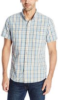 G.H. Bass Men's Short Sleeve Rock River Textured Medium Plaid Shirt