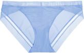 Calvin Klein Underwear Tulle-trimmed stretch-satin briefs