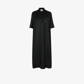 Ganni Stud Embellished Shirt Dress
