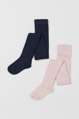 H&M 2-pack Fine-knit Tights - Pink
