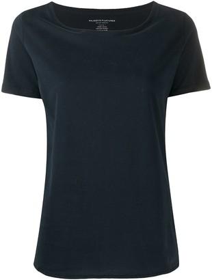 Majestic Filatures boat neck side-slit T-shirt