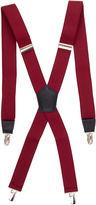Jf J.Ferrar Burgundy Suspenders