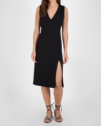 Express Bb Dakota V-Neck Sheath Midi Dress