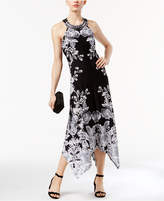 INC International Concepts Petite Printed Handkerchief-Hem Dress, Only at Macy's