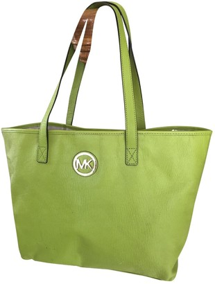 Michael Kors Jet Set Green Leather Handbags