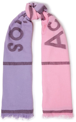 Acne Studios Frayed Degrade Fil Coupe Cotton-blend Scarf