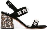 Marc Jacobs leopard print heel sandals - women - Leather/Suede/plastic/metal - 38