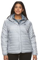 New Balance Plus Size Hooded Quilted Puffer Jacket