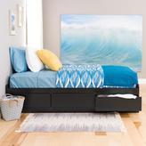 Prepac Sonoma Black Twin 3-Drawer Platform Storage Bed