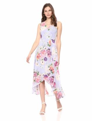 Calvin Klein Women's Chiffon Sleeveless V Neck Maxi Dress