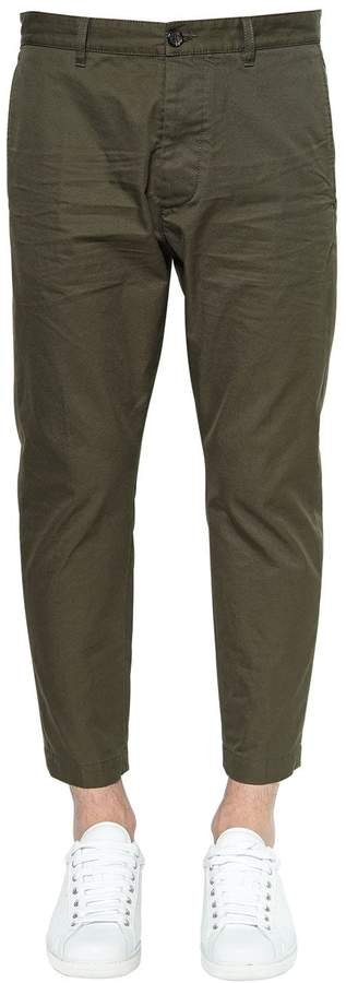 DSQUARED2 16cm Hockney Cotton Twill Pants