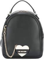 Love Moschino logo heart chain backpack